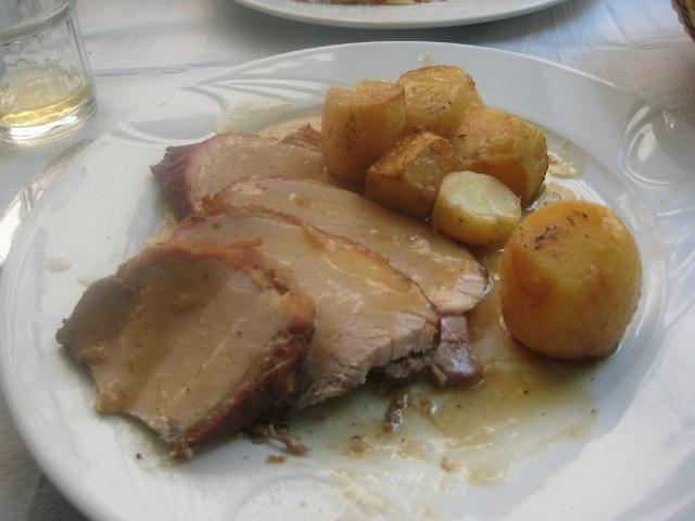 Porco assado c/ batata