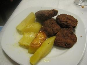 Almôndegas c/ batata