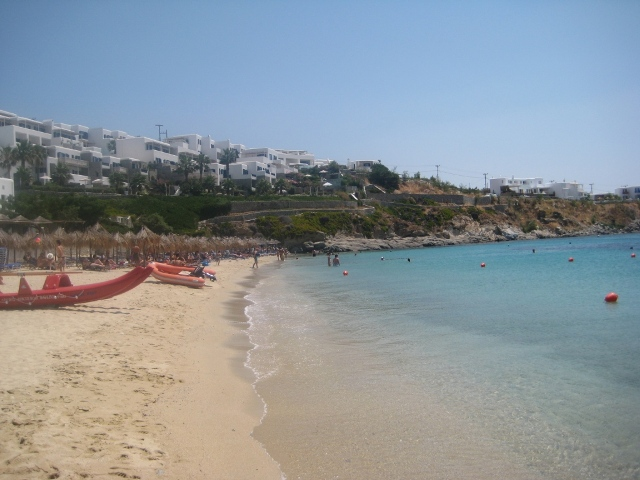 Praia de Psarou (lado esquerdo)
