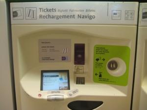 Máquina para comprar bilhete de metrô