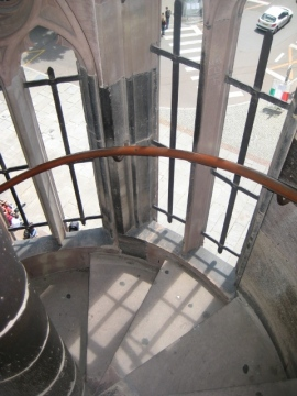 Escada da atedral de Notre Dame