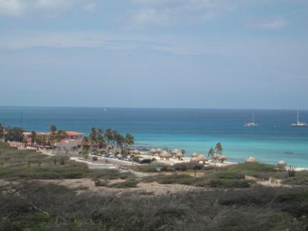 Vista do farol de Aruba