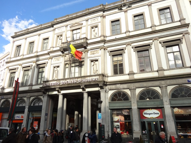 Bruxelas - Galeria Saint-Hubert - Fachada