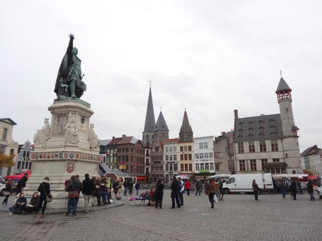 Gent - Praça Vrijdagmarkt