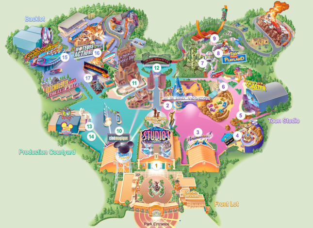 Disney Studios Paris Park Map