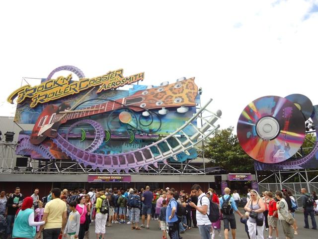 Disney Studios Park - Rock Roaler Coaster Aerosmith