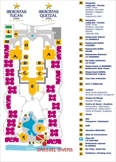 Iberostar Tucan-quetzal Map