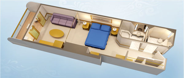Disney Cruise Cabine com varanda