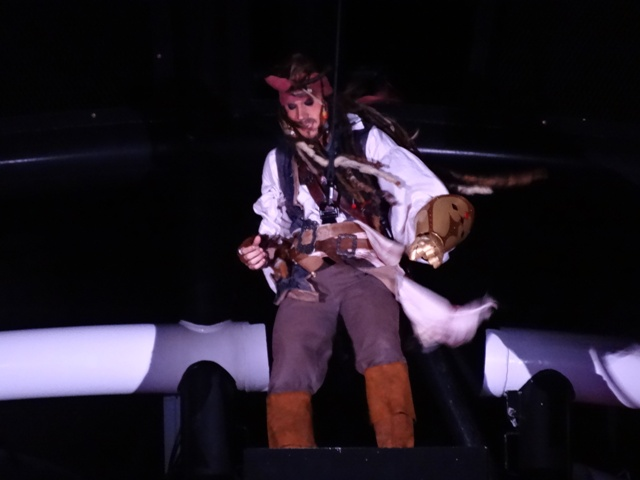 Disney Cruise show Jack Sparrow