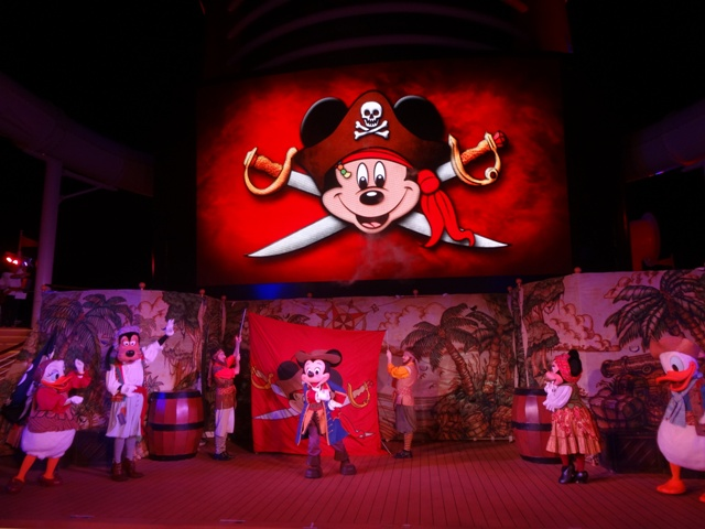 Disney Cruise show pirata